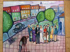 Buberman Iki - Wedding Naive Art, Israel, Weddings, Painting, Painting Art, Paintings, Mariage, Wedding, Painted Canvas