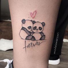 "Tattoo made by Michele Mercuri (mercuri_michele) from Italy. heart and written ""forever"". Dream Tattoos, Mini Tattoos, Body Art Tattoos, Small Tattoos, Tatoos, Finger Tattoos For Couples, Couple Tattoos, Panda Bear Tattoos, Panda Tattoo"