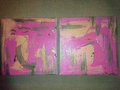 New diptych! 'Endless summer' (2) 10 x 10 canvases www.lizahathawaymatthews.com #available #abstract #art #interior #design