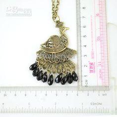 peacock necklace | antique bronze peacock jewelry necklaces ,Austrilia fashion jewellery , NL-1325B