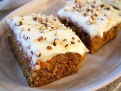 porkkanakakku (focus on favorites) Sweet Bakery, Cake Bars, Vegan Desserts, Love Food, Sweet Recipes, Baking Recipes, Food And Drink, Yummy Food, Treats