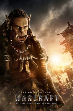At San Diego Comic-Con 2015 today, the World of Warcraft movie coming for 2016 put out two new poster concepts giving equal weight to the Alliance and Horde. Here are images for the film's two. Warcraft Film, Warcraft 2016, World Of Warcraft, Warcraft Art, Robert Kazinsky, Travis Fimmel, San Diego Comic Con, Action Movies, Video Game