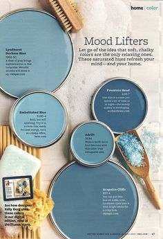 Mood Lifters Blue Paint Color - Interiors By Color