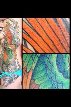 Phoenix tattoo third session