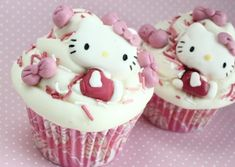hello kitty food   cupcake, cupcakes, food, hello kitty, pink - inspiring picture on ...