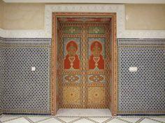 Porte Artisanal peint