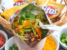 Satisfy guests on the go by learning how to make a walking Frito pie with this easy how-to from Food.com.. ☀CQ #appetizers  #football #superbowl