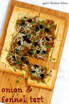 Caramelized Onion and Fennel Tart ~ Lydia's Flexitarian Kitchen