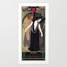 Dark Lili Nouveau - Legend Art Print by CaptainLaserBeam - $15.00 To Buy Later