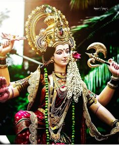 Maa Durga Photo, Maa Durga Image, Durga Ji, Durga Goddess, Gota Patti Jewellery, Radhe Krishna Wallpapers, Mata Rani, Durga Images, Shri Ganesh