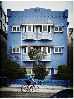 The old blue building - Bondi Beach, Sydney, Australia.