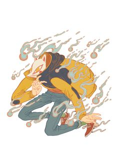 Kitsune by DAMIAN DIDEŃKO, via Behance