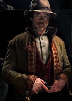 """Downey as Holmes in """"Game Of Shadows"""""""