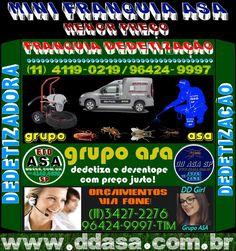 Franquia Barata 11 4119-0219-Mini Franquia DD ASA Dedetizadoras-Para Todo o Brasil