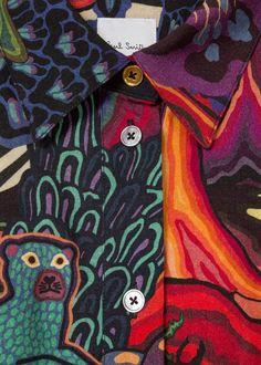 abbf00931861c Women s  Dreamer  Print Wool-Blend Shirt Dress Paul Smith Long Sleeve Shirt  Dress