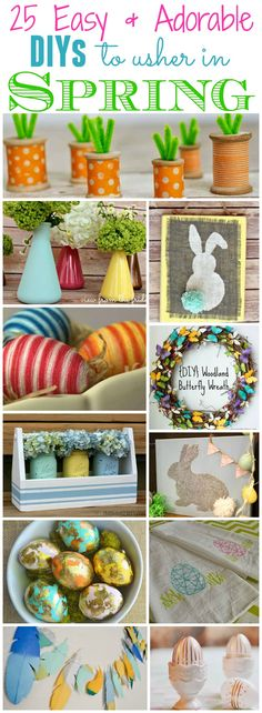 25 Easy and Adorable DIY projects and ideas to usher in spring at thehappyhousie.com