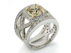 Fancy Yellow Diamond Ring MJ18394
