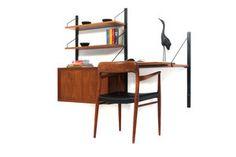 Wallhung desk unit by Poul Cadovius for Cado Royal.  c. 1960s Danish.