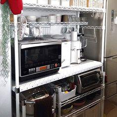 キッチン収納/スチールラック/スチールシェルフ/エレクター/キッチンのインテリア実例 - 2013-10-21 15:34:57 | RoomClip(ルームクリップ)