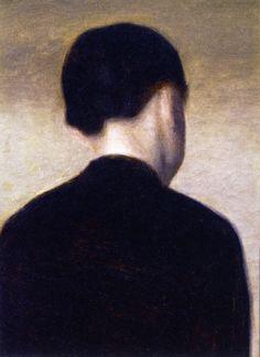 Back View of a Young Girl: Anna Hammershøi (Vilhelm Hammershøi - 1884)