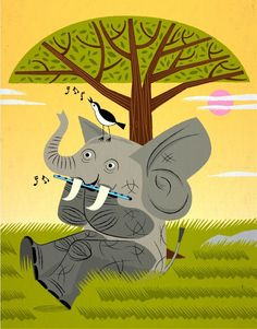The Elephant, The Flute and The Bird .