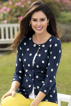 Polka Dot Cardigan By JG Hook® | Chadwicks of Boston