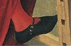 Male shoe. Detail from St Luke painting the Virgin by Gabriel Malasskircher. 1478. Museum Thysson-Bornemisza http://www.museothyssen.org/en/thyssen/zoom_obra/330