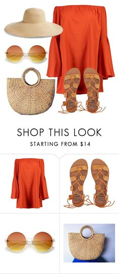 """""""Untitled #688"""" by folledicolagiocattoli ❤ liked on Polyvore featuring Boohoo, Billabong, ZeroUV and Eric Javits"""