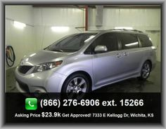 2011 Toyota Sienna SE 8-Passenger Mini-Van  Exterior Parking Camera - Rear Camera Only, Compass, Trip Computer, Audio Controls On Steering Wheel, 2Nd And 3Rd Row, Front Seat Type - Bucket,
