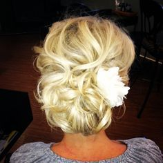 Hair for wedding day (: