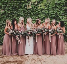 2017 dusty rose pink bridesmaid dresses sweetheart catch broken chiffon skirt long bridesmaid dress, wedding dress(China (Mainland)) - My WordPress Website Wedding Bells, Fall Wedding, Dream Wedding, Rose Wedding, Wedding Flowers, Trendy Wedding, Mauve Wedding, 2017 Wedding, Wedding Venues