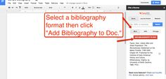 Free Technology for Teachers: How to Create a Bibliography in Google Documents @Julian Mitchell @Christian Mitchell