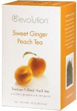 A delicious ginger peach tea:  Sweet Ginger Peach Tea from Revolution.  Read the review here:  http://sororiteasisters.com/2012/08/01/sweet-ginger-peach-tea-from-revolution/#