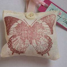 Vintage butterfly fragrance sachet