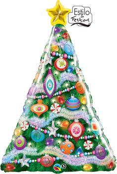 Balão Árvore de Natal Decorada Bexiga de arvore de natal
