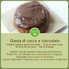 Glassa di cocco e cioccolato