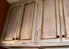 Distressed cupboards