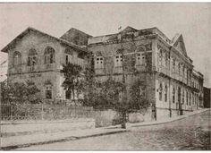 Vista da Rua de São Bento em Olinda, vendo-se o prédio do antigo Paço dos governadores de Pernambuco. Atual sede da Prefeitura de Olinda. Em 06 de agosto de 1927
