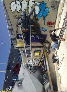 3D Anamorphic Graffiti Street Art - 14