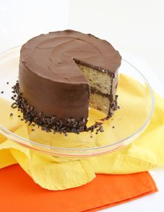 vanilla cake choc frosting2