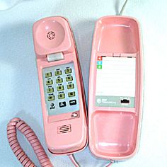 AT Trimline 210 Pink Touchtone Telephone Phone. Click on the image for more information.