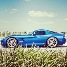 Beautiful Dodge Viper with 360 Forged Wheels #dodgeviperblue