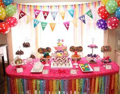 Girl's Rainbow Birthday Party Ideas by Guavaloo on Etsy. First ...