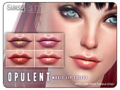 The Sims Resource: Opulent – Magic Lip Colour by Screaming Mustard • Sims 4 Downloads
