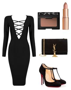 """""""Get the look: Kim Kardashian"""" by amanrose ❤ liked on Polyvore featuring Posh Girl, Christian Louboutin, Charlotte Tilbury, NARS Cosmetics, Yves Saint Laurent, women's clothing, women, female, woman and misses"""