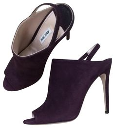 Miu Miu Miu Prugna Slingback Peep Toe Purple Boots. Get the must-have boots of this season! These Miu Miu Miu Prugna Slingback Peep Toe Purple Boots are a top 10 member favorite on Tradesy. Save on yours before they're sold out!