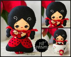 PDF Pattern. Ladybird fairy and babybug by Noialand on Etsy