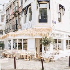 the outside of bamboa ⋆ Amsterdam Food, Amsterdam Travel, Cafe Bar, Corporate Design, Ibiza, Places To See, Scenery, Relax, Street View