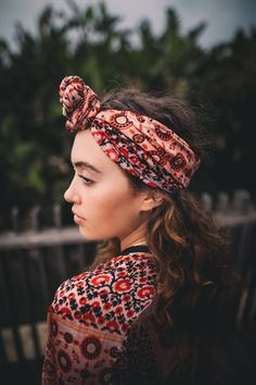 head scarf (black & orange) – umi salt rock