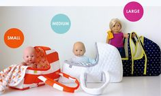 the Baby Doll Basket PATTERN is here! – It's a for purchase pattern Sewing Doll Clothes, Baby Doll Clothes, Sewing Dolls, Sewing For Kids, Baby Sewing, Girl Dolls, Baby Dolls, Costura Diy, Doll Carrier